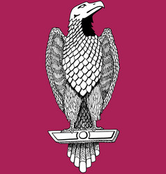 Art eagle resembling an ancient rome sculpture vector