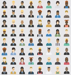 avatar business and private set 64 item vector image