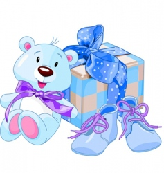 Baby boy gifts vector