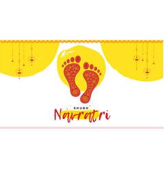 Banner design shubh navratri vector