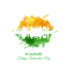 banner or poster for indian independence day vector image