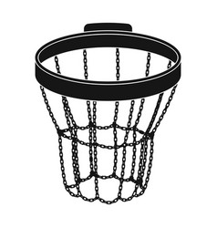 basketball hoopbasketball single icon in black vector image