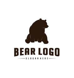 bear logo icon designs bears logo concepts icon vector image