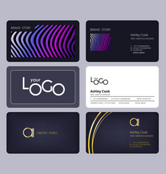 business cards template corporate identity vector image