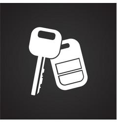 Car key with alarm on black background vector