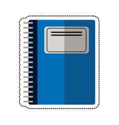 cartoon notebook spiral school vector image