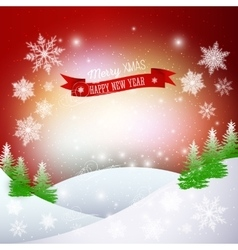 Christmas greeting card Merry Xmas and happy New vector image