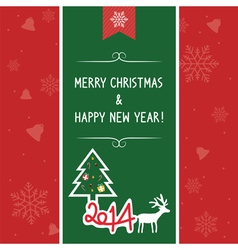 Christmas greeting card7 vector image