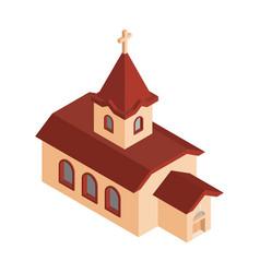 church isometrics catholic christian house vector image