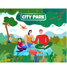 city park vector image
