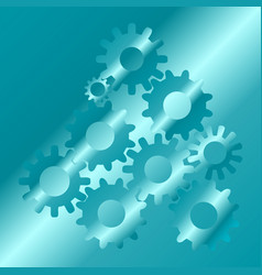 cogs and gear wheel mechanisms hi-tech digital vector image
