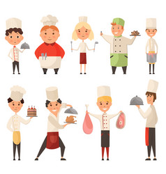collection different cook chef child in a cook vector image