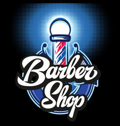 colored templates for barber pole with vector image