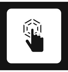 Cursor hand clicks icon simple style vector