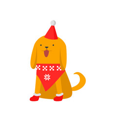 cute good dog symbol of the new year the dog in a vector image