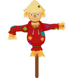 cute scarecrow cartoon vector image