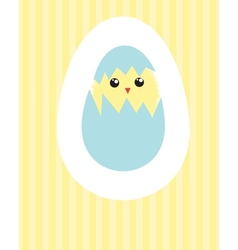 Easter beautiful card with hand drawn eggs vector image