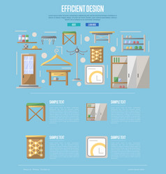 Efficiency hallway space decoration poster vector