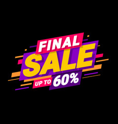 final special offers vector image