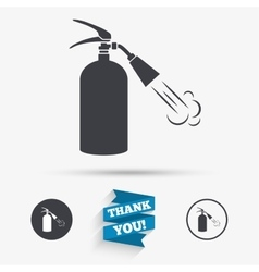 Fire extinguisher sign icon Fire safety symbol vector image