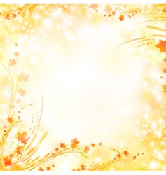 floral autumn background vector image