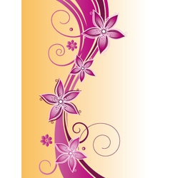 Flowers summer vector image