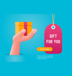 gift for you concept vector image