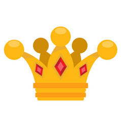 gold crown logo cartoon headdress king for the vector image
