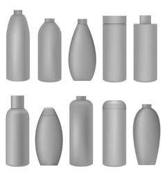 Grey bottle set vector image
