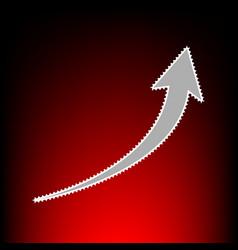 growing arrow vector image