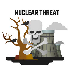 harm nuclear energy world is in danger vector image