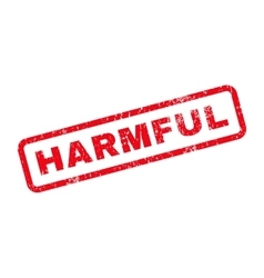 Harmful Text Rubber Stamp vector