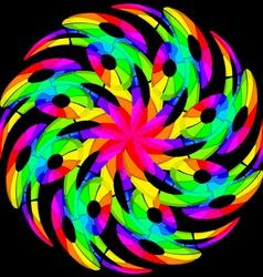 Hypnotic color swirl vector