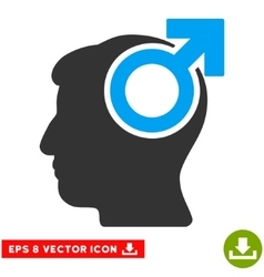Intellect potency eps icon vector