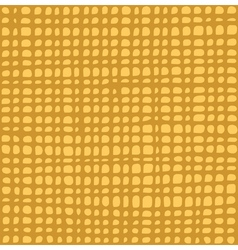 Irregular grid tiled pattern in yellow over orange vector
