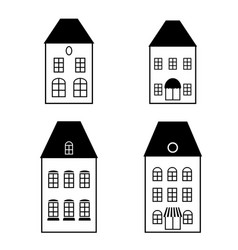 isolated black simple facades vector image