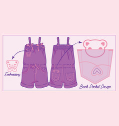 jumpsuit for a toddler girl vector image