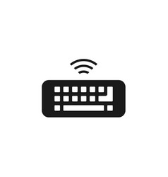 keyboard icon design template isolated vector image