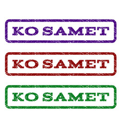 Ko samet watermark stamp vector