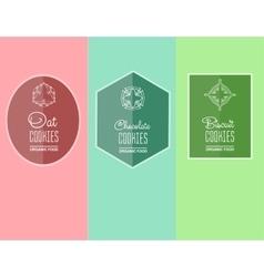 Label for biscuits cookies vector