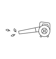 Leaf blower linear icon electric vacuum vector