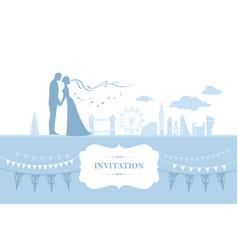 London wedding card vector