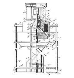 Magnetic separator vintage vector