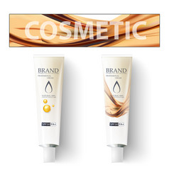 Makeup cosmetics cream template for packaging vector