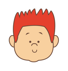 man character head face smiling cartoon vector image