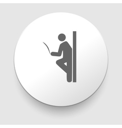 Man reading a newspaper library sign icon vector image