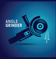 Manual angle grinder image vector