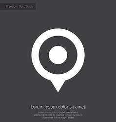 map pin premium icon white on dark background vector image