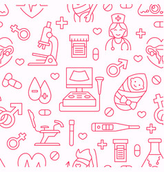 medical seamless pattern gynecology vector image
