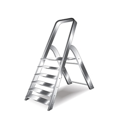 metal ladder isolated vector image